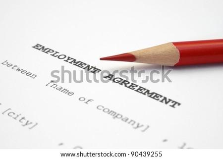 Employment agreement - stock photo