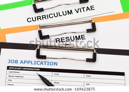 Employment application - stock photo