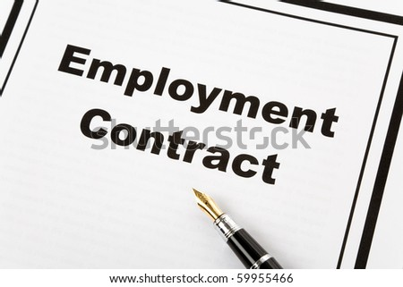 Employment Contract and pen, business concept - stock photo