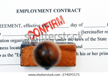 Employment contract - confirm - stock photo
