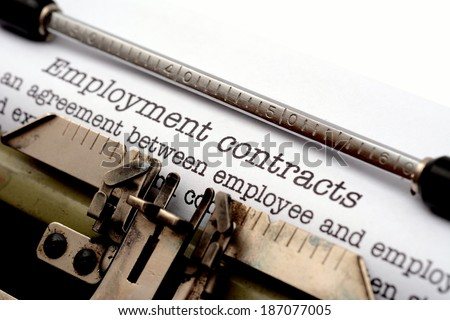 Employment contracts - stock photo
