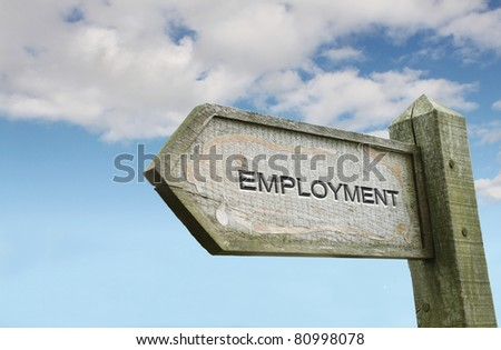 Employment Old Wooden Signpost