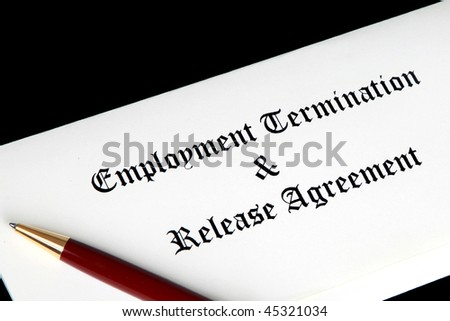 Employment Termination Release Agreement Stock Photo Royalty Free