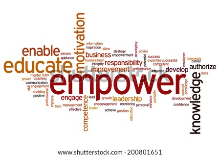 Empower concept word cloud background - stock photo