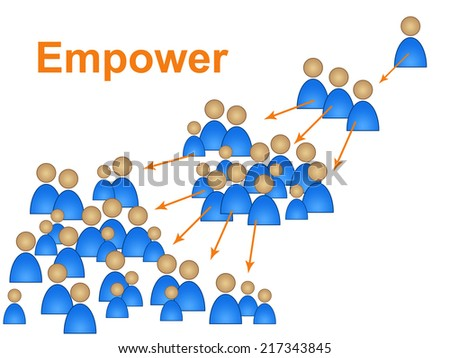 Empower Leadership Showing Initiative Command And Authority - stock photo