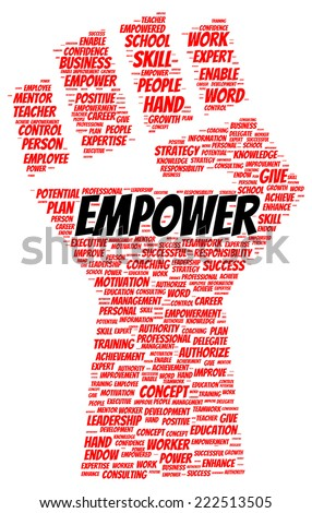 Empower word cloud shape concept - stock photo