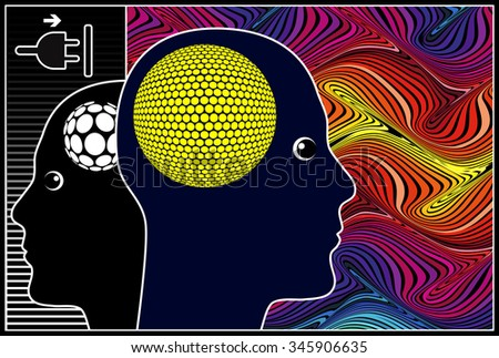 Empower Yourself. Concept sign of self hypnosis to switch to a powerful state of mind - stock photo