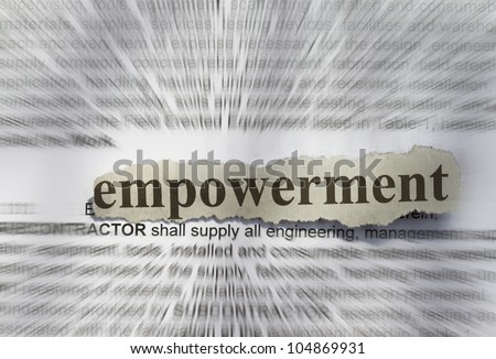 Empowerment- text in blur with definition abstract - stock photo