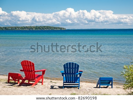 Adirondack Chair Beach Stock Images Royalty Free Images
