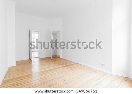 empty apartment room wooden floor stock photo download now