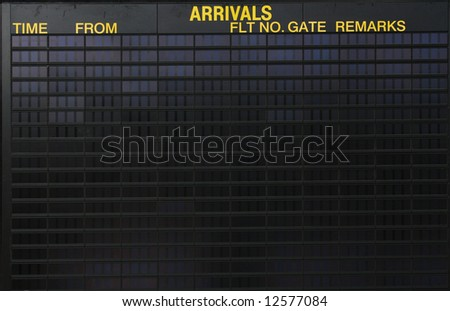 Empty arrivals sign at an international airport, put your own design on it - stock photo