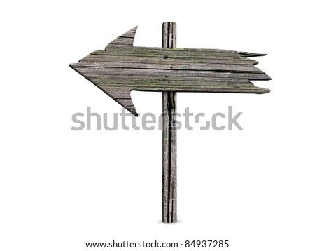 empty arrow sign made out of wood - stock photo