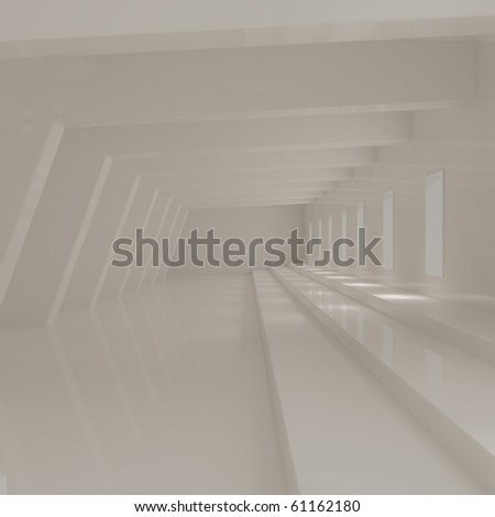 Empty Art Studio Interior - 3d illustration - stock photo