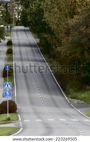 empty asphalt road - stock photo