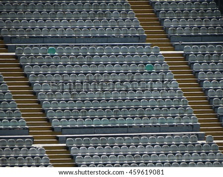 Empty audience seats for an entertainment event