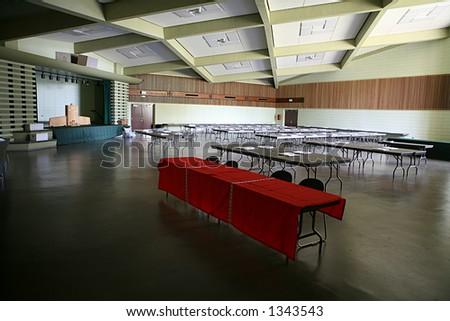 Empty auditorium - stock photo
