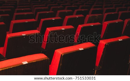 Empty auditorium, red seats