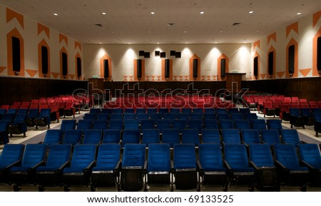 empty auditorium, theater or conference hall