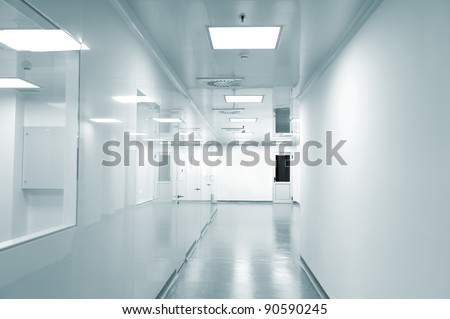 Empty background of modern  factory environment - stock photo