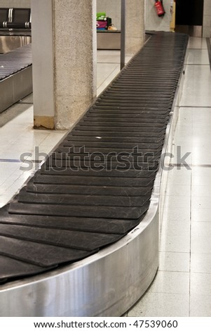 Empty baggage claim area at airport