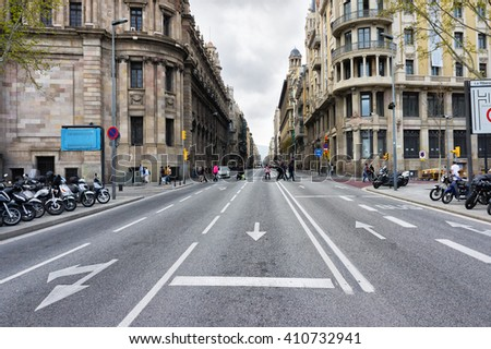 City Street Day Wallpaper Barcelona Stock Images Royalty Free Vectors