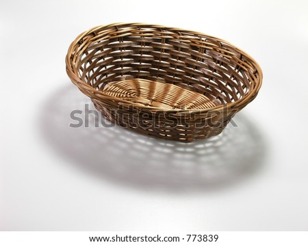 Empty basket and pattern shadow