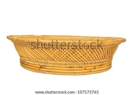 Empty basket isolated on white background - stock photo