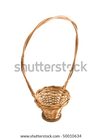 empty basket  isolated on white background