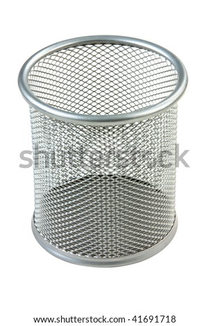 empty basket paper isolated on white background
