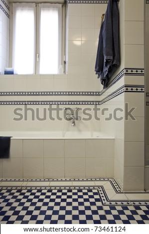 empty bathroom in loft - stock photo
