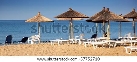 Empty beach - stock photo