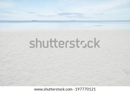 Empty beach shot from the sand - stock photo