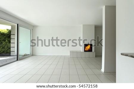 empty beautiful flat - stock photo