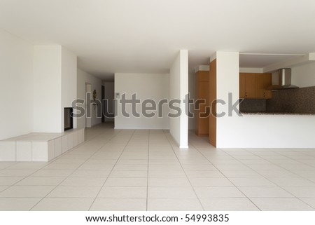 empty beautiful flat - stock photo