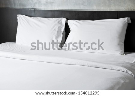 Empty bed. - stock photo