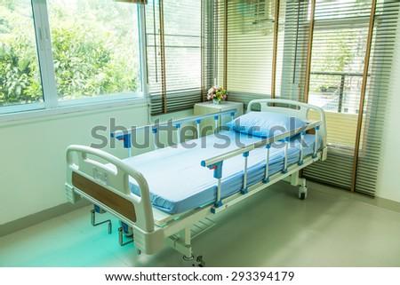 Empty Bed On Hospital Ward  - stock photo