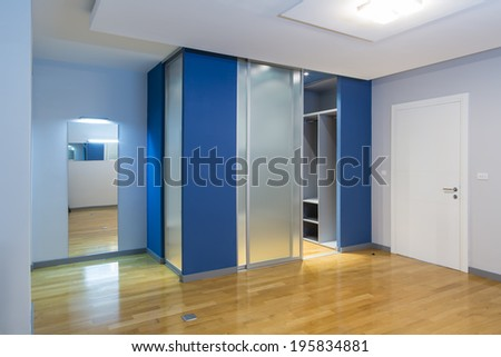 Empty bedroom interior - stock photo