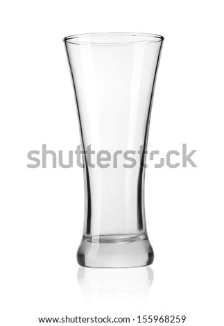 Empty beer glass isolated on white background.With clipping path