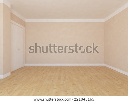 empty beige interior  - stock photo