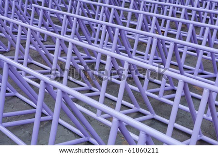 Empty Bicycle parking lot - stock photo
