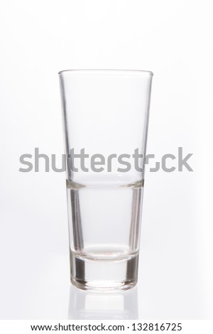Empty big glass on white background
