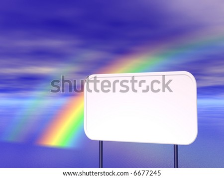 Empty billboard and sky in the background - stock photo