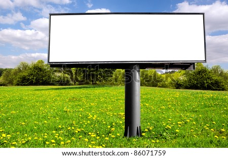 empty billboard for your ad - stock photo