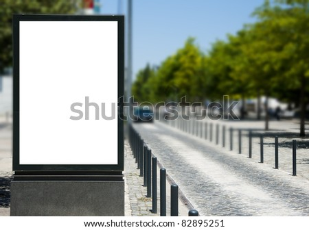Empty billboard for your ad near a road - stock photo