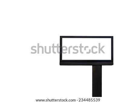 Empty billboard isolated on white - stock photo