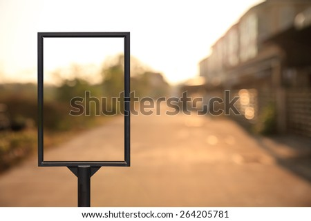 Empty billboard on blue sky - stock photo