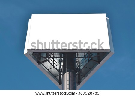 empty Billboard on the sky background - stock photo