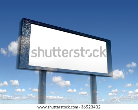 empty billboard,put your own text here