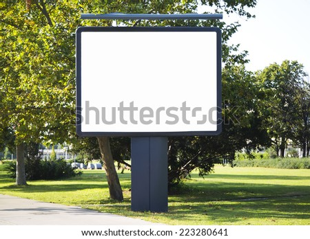 Empty billboard with copy space - stock photo