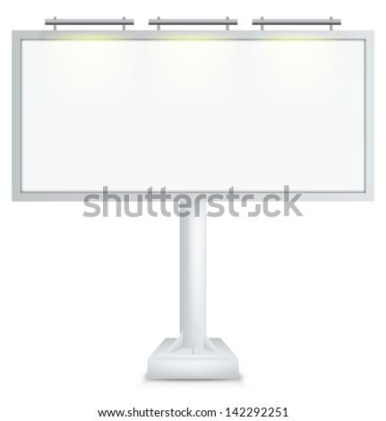 Empty billboard with path - stock photo